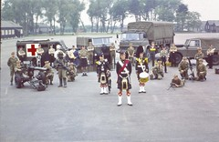 Capt G A Irvine-Fortescue stand in front of the many rolls of a Gordon Highlander. (tormentor4555) Tags: gordon highlanders