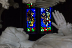 At Rest (TDR Photographic) Tags: uk light england colour dof sony tomb cotswolds depthoffield stainedglasswindow contrejour effigy possibles differentialfocus nex5n