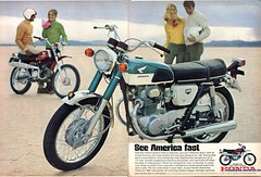 1969 Honda Motorcycle Advertising Hot Rod Magazine April 1969 Stitched (SenseiAlan) Tags: hot 1969 honda magazine advertising motorcycle april rod stitched
