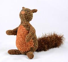 squirrel brown orange crochet (patti haskins) Tags: orange brown stuffed squirrel oneofakind critter crochet craft plush softie crocheted plushteam