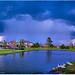 Houston Skyscape over Westbrooke Lake