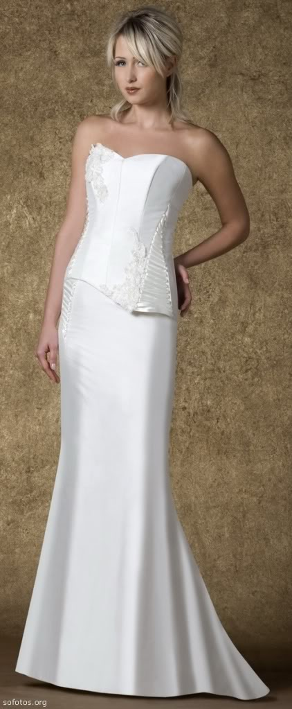 Vestido de noiva tomara que caia branco