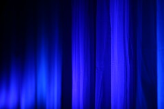 Blue curtains at OHM2013