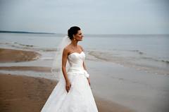 lonely without him (Dmitry Kaminsky) Tags: wedding love bride young marriage husband latvia wife lonely justmarried without riga fiance fiancee saulkrasti bridecouple baltakapa
