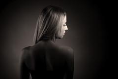 Lenka (Norbert Králik) Tags: portrait woman girl beauty studio grey dish background shoulders softbox walimex lenka canoneos5d canonef85mmf18usm walimexprovc300 walimexprovc200