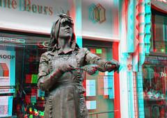 Living Statues Dordrecht 3D (wim hoppenbrouwers) Tags: 3d anaglyph stereo dordrecht livingstatues redcyan levendebeelden