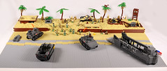 Tarawa_ GreenBeach A1-B1-C1_Work In Progress (Florida Shoooter) Tags: usa japan lego pacific ww2 diorama tarawa