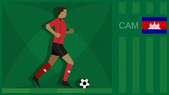 Cambodia Soccer Graphic (SidewinderII) Tags: sport football goal team cambodia kick fifa flag cam soccer country run player jersey pitch worldcup score turf afc dribble nationalteam olympicgames phnompenhnationalolympicstadium  theroyalkhmers angkorwarriors worldcup            kromchumreswcheit