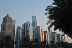 Duba Marina skyline (sophyleroy) Tags: sunset sky skyline palmtree heat skyscrapper duba soirededpart d7000 dubamarina