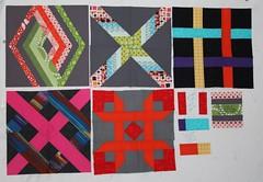Christine's Interlocking Geometric quilt - the blocks so far (by niveas) Tags: chur