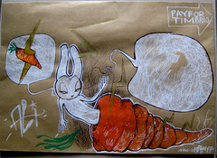 aleister for glc (mc1984) Tags: rabbit drawing carrot letter mc1984 artpostal aleister236