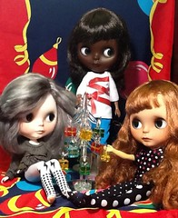 Lacey, Dora, and Donna Decorate a Tree