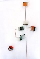LBDMLCRDC verticale orange ( 2001 ), plexy,inox,bois, film mtallique, peinture; (emmanuelviard75) Tags: films bois mobilit inox plexy