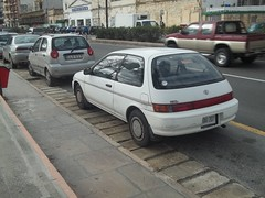 Toyota Windy (occama) Tags: old white car japanese windy malta toyota rare 1990s corolla jdm