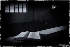Music book ... (sparkeyb) Tags: school bw music london church religious mono book blackwhite words nikon prayer religion sigma chapel monotone masonic urbanexploration masons 1020mm iso1600 urbex staves blackanswhite monotonal masonicboysschool d7000 sparkeyb