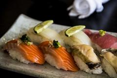 Delicious Sushi (mkmyuu) Tags: winter fish japan sushi photography sapporo rice salmon nigiri otaru