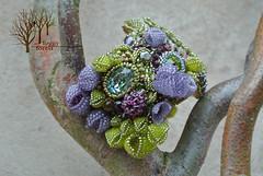 A Midsummer Night's Dream bracelet_6 (~Gilven~) Tags: flowers forest beads bracelet bead swarovski beading zircon citrine labradorite swarovskicrystals beadembroidery japanesebeads czechbeads naturalleather