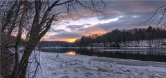 End of The Line #6 (Crick3) Tags: trees sunset ice connecticutriver wchesterfield nhwinter
