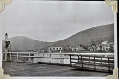 Arran from the Lochranza ferry or steamer? (petelovespurple) Tags: boats scotland ship 1950s prints arran steamers