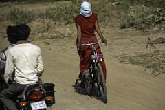 No Peeking (Culture Shlock) Tags: street travel girls people india men boys women veil headscarf bikes bicycles modesty attraction modest cyclingapparel headcovering