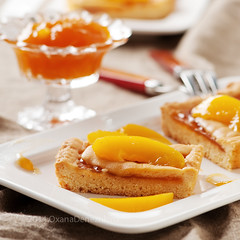 Sweet homemade cake with apricot jam (Oxana Denezhkina) Tags: summer food white apple cake closeup fruit cheese breakfast pie crust table dessert sweet almond tasty plate fresh sugar gourmet delicious homemade bakery snack pastry apricot treat tart apricots baked