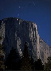 El Capitan by moonlight, Yosemite National Park CA (arbabi) Tags: california usa nature night america stars landscape fullmoon granite moonlight nightsky yosemitenationalpark elcapitan sierranevada rockclimbing monolith startrails mariposacounty seanarbabi tutochanula climbingteams