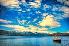 Patagonia Argentina (Rafael HW) Tags: patagonia lake argentina clouds de lago la boat nikon bosque villa vr bariloche angostura arrayanes d80 18105mm