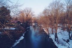 39/365 (Daniel Foeller) Tags: winter sunset sun snow water river flow gold golden dusk pennsylvania explore pa hour flowing