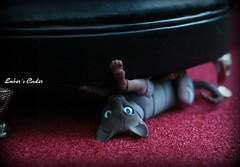 Of course i'm not duffing up the chair, that would be crazy! (pure_embers) Tags: uk cats pets cute chair dolls play bjd sphynx pure cinder embers 5cm pureembers bjdpets