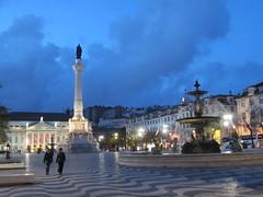 Rossio at twilight, Lisbon, Portugal (Paul McClure DC) Tags: portugal architecture lisboa lisbon historic baixa apr2013
