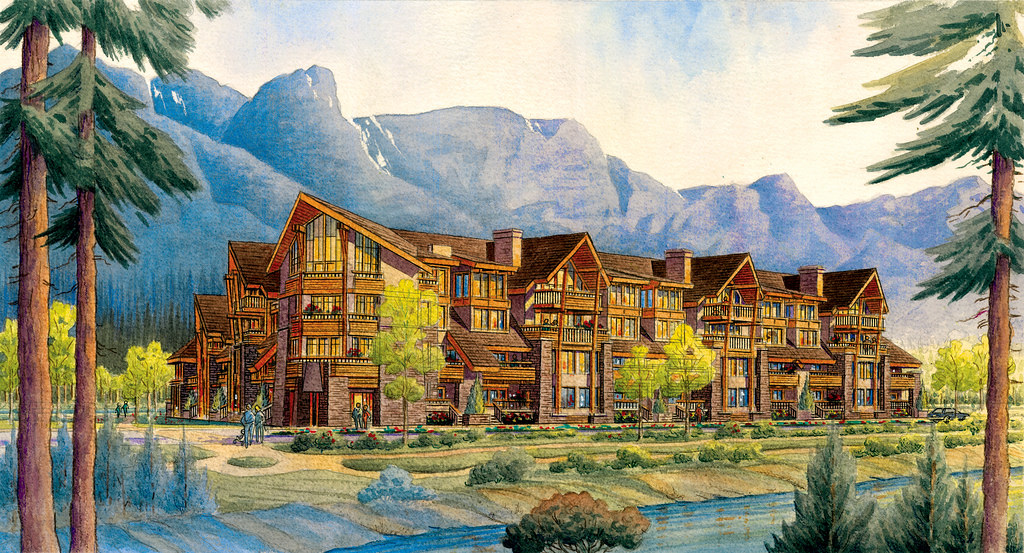 Rundle Cliffs rendering