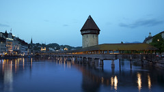 Lucerne (kBandara) Tags: bridge lake switzerland luzern canon5d lucerne kapellbrcke canonef24105l reussrive