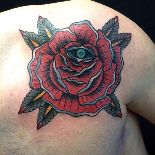 e1d6af0db Rose traditional tattoo oldschool by Dap Skingdom Tattoo shop , Treviso  Italy