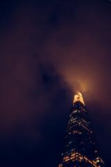 Shard (Dan Chippendale) Tags: sky london night clouds fuji fujifilm shard theshard fujifilmxt1 fujixt1