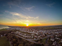 Sunset Over Barry (Shutter Slice) Tags: sunset seascape southwales landscape town horizon potd gopro djiphantom2 gorpohd3