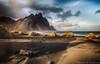 Vestrahorn (Kristinn R.) Tags: sky beach grass clouds blacksand iceland nikon vestrahorn nikonphotography stokknes kristinnr d800e