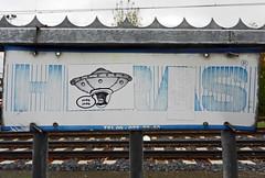 UFO (Antropoturista) Tags: streetart fun sticker upsidedown thenetherlands ufo semiotics albrechtdrer heerlen