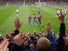 Dwight Gayle scores at Fulham (Paul-M-Wright) Tags: uk england london crystal cottage may 11 palace v fulham craven 2014 cpfc