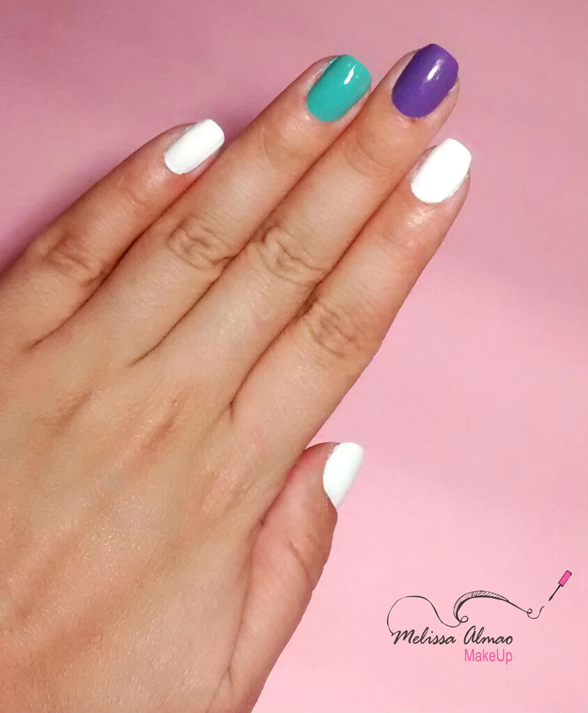 Cómo hacer diseño de uñas chevron y cinta metálica