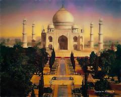 Digital Pastel Drawing of the Taj Mahal by Charles W. Bailey, Jr.
