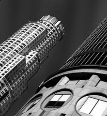 LA Tilt (Foto-Mike) Tags: white black art architecture modern skyscraper canon lens eos la los downtown angle angeles wide l series mm usm dslr 1740 50d discoverla