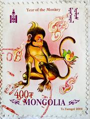 great stamp Mongolia Монгол Улс 400T (Year of the monkey, Jahr des Affen, horoscope sign, singe, el mono, bertuccia, 申猴, марты́шка, o macaco, małpa, aap, opice, サル, ape, abe)  sello francobolli poste timbre Mongolie 蒙古 邮票  почто́вая ма́рка Монго́лия 400T (stampolina, thx ! :)) Tags: sign postes monkey asien stamps mongolia porto ape abe horoscope tem postage revenue singe affe selo bolli sello mongolei sellos briefmarken sternzeichen pulu frimärken briefmarke 邮票 timbres frimærker timbreposte francobolli bollo elmono 切手 pullar timbresposte bertuccia frimaerke марка wysyłka почтоваямарка postapulu yóupiào postetimbre пощенскиразноски templite ταχυδρομικάτέλη 送料 우편요금 poštarina paštoišlaidos маркица pečiatky ค่าไปรษณีย์ poštovné bélyegek bưuchính 申猴
