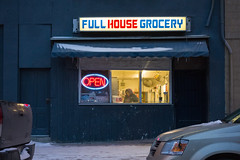 Full House Grocery (bryanscott) Tags: winter snow canada building sign architecture typography winnipeg manitoba signage type