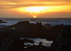 Sunset Bay (I'm a sea) Tags: world california light sunset sky sun beach water beautiful clouds bay coast monterey amazing rocks waves glow bright dusk earth