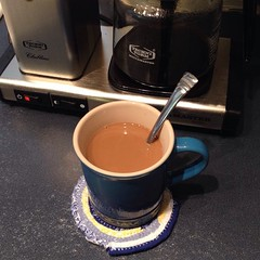"On a brutally cold afternoon, this hot cup of coffee is just what I need to keep me company at the sewing machine. Now let's get sewing!  #coffee • <a style=""font-size:0.8em;"" href=""https://www.flickr.com/photos/54958436@N05/16411674056/"" target=""_blank"">View on Flickr</a>"