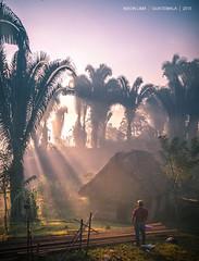 Saludo a la Vida (Nixon Lima) Tags: houses people landscapes trabajo nikon gente maya guatemala ngc national sunburst sunrises sunrays goodmorning geographic rayosdesol natgeo buenosdias chozas amaneceres nixonlima nikonflickraward lifesalutation jalaute