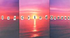In Every Dream Home 61 (Ice Cried Oceans)  2014 (foggodavid) Tags: sunset sea sky ice collage triptych horizon wallart oceans cried ransomnote textart davidfoggo textoncanvas ineverydreamhome