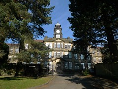 The Mansion (Squatbetty) Tags: gates clocktower edwardian westyorkshire bingley themansion ladylane bingleyteachertrainingcollege ladyhouseestate