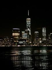 Freedom Tower, the new World Trade Center, from the Jersey City waterfront. (cvconnell) Tags: newyorkcity skyline skyscraper newjersey waterfront manhattan worldtradecenter battery citylights hudsonriver wtc hudson newyorknewyork lowermanhattan freedomtower hyattregencyjerseycity jerseycitywaterfront