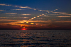 130822_Jullouville_229 (rainerspath) Tags: sunset sea mer france frankreich meer sonnenuntergang bassenormandie jullouville kanalkste